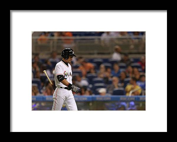 Three Quarter Length Framed Print featuring the photograph Ichiro Suzuki by Rob Foldy