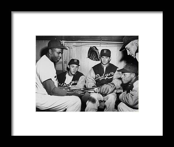 People Framed Print featuring the photograph Jackie Robinson by Fpg