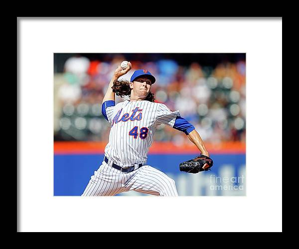 Jacob Degrom Framed Print featuring the photograph Jacob Degrom by Jim Mcisaac