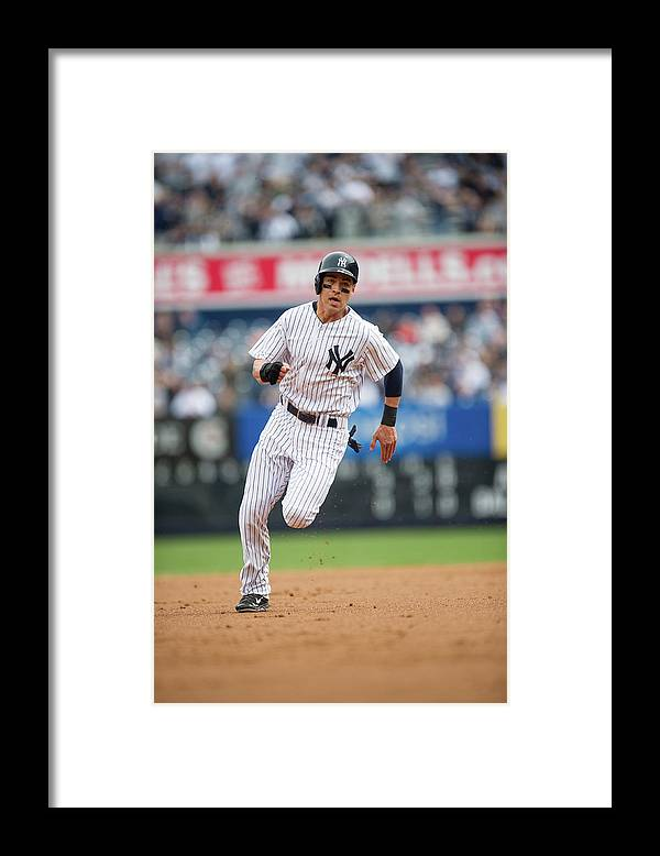 American League Baseball Framed Print featuring the photograph Jacoby Ellsbury by Rob Tringali