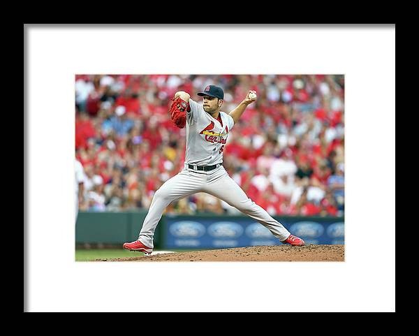 Great American Ball Park Framed Print featuring the photograph Jaime Garcia by Andy Lyons
