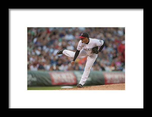 Baseball Pitcher Framed Print featuring the photograph Jair Jurrjens by Dustin Bradford