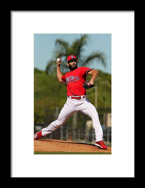 Clearwater Framed Print featuring the photograph Jake Arrieta by Icon Sportswire