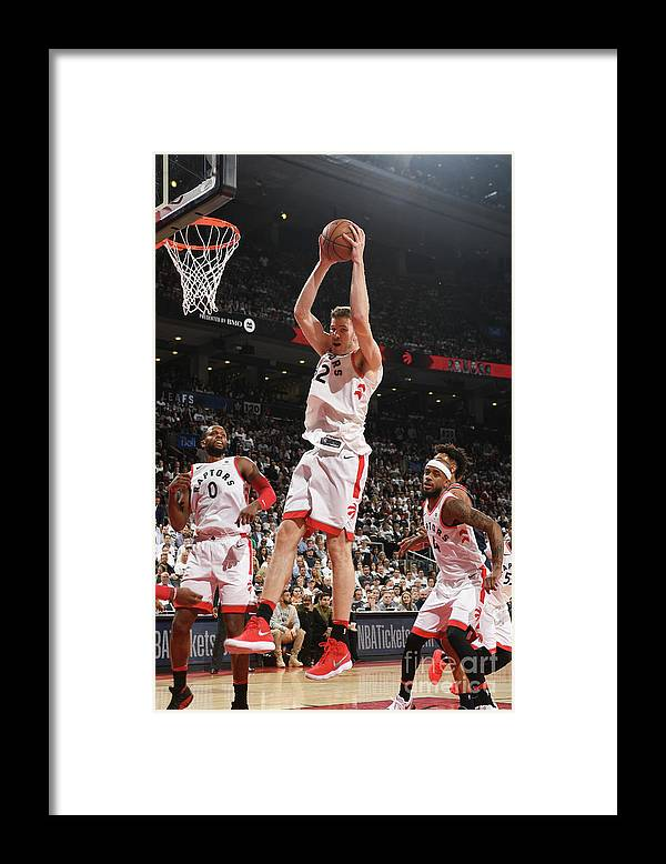 Playoffs Framed Print featuring the photograph Jakob Poeltl by Ron Turenne
