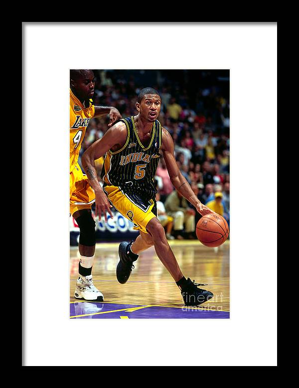 Playoffs Framed Print featuring the photograph Jalen Rose by Andy Hayt