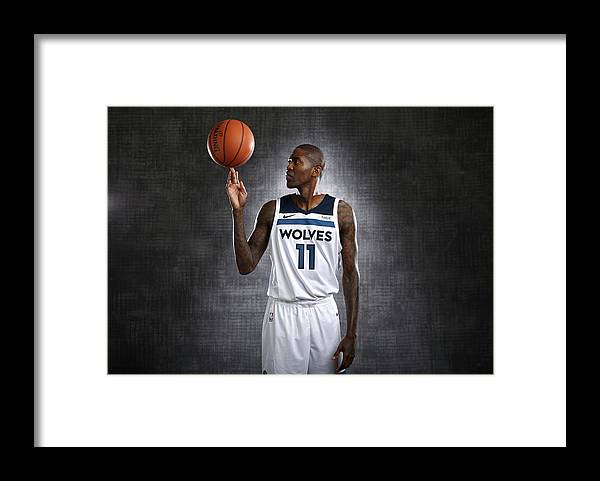 Media Day Framed Print featuring the photograph Jamal Crawford by David Sherman
