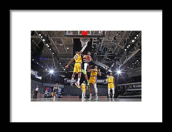Nba Pro Basketball Framed Print featuring the photograph Jamal Murray and Lebron James by Garrett Ellwood