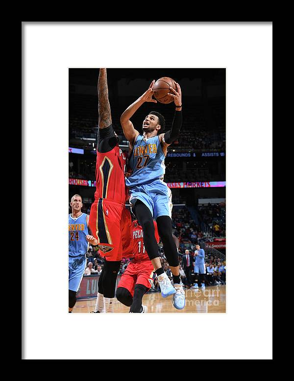 Smoothie King Center Framed Print featuring the photograph Jamal Murray by Garrett Ellwood