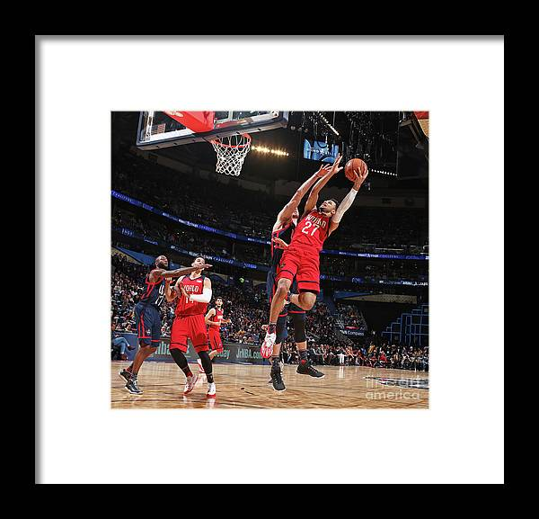 Event Framed Print featuring the photograph Jamal Murray by Nathaniel S. Butler