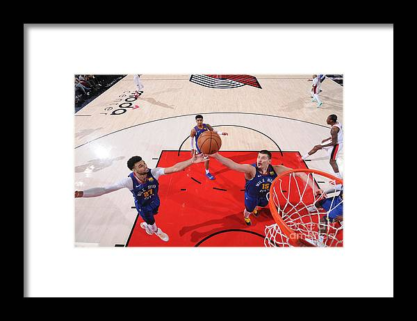 Nba Pro Basketball Framed Print featuring the photograph Jamal Murray by Sam Forencich