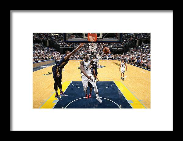 Nba Pro Basketball Framed Print featuring the photograph James Ennis by Joe Murphy