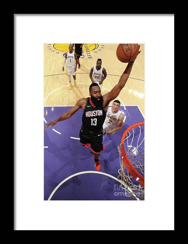 Nba Pro Basketball Framed Print featuring the photograph James Harden by Adam Pantozzi