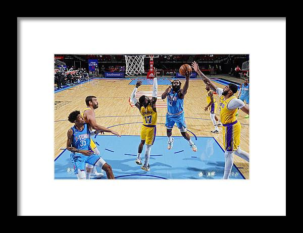 Nba Pro Basketball Framed Print featuring the photograph James Harden by Cato Cataldo