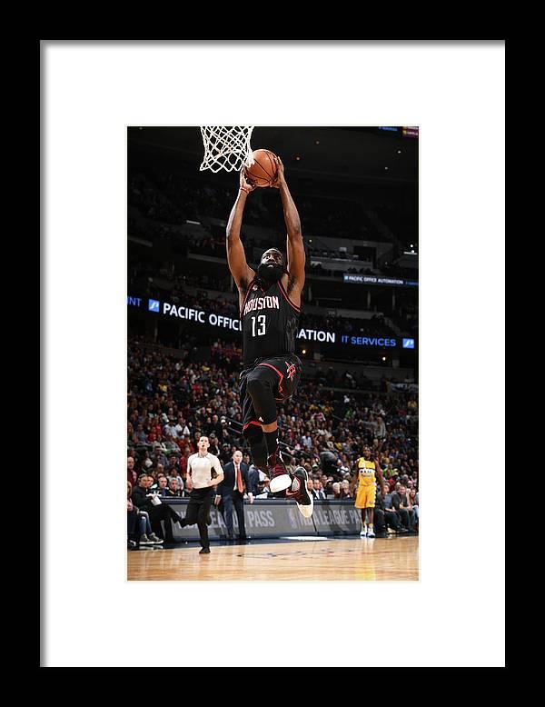 Nba Pro Basketball Framed Print featuring the photograph James Harden by Garrett Ellwood