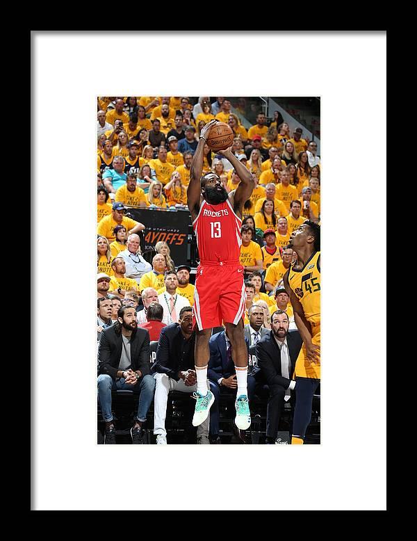Playoffs Framed Print featuring the photograph James Harden by Melissa Majchrzak