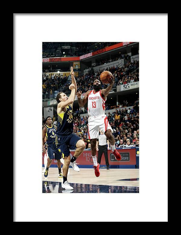 Nba Pro Basketball Framed Print featuring the photograph James Harden by Nba Photos
