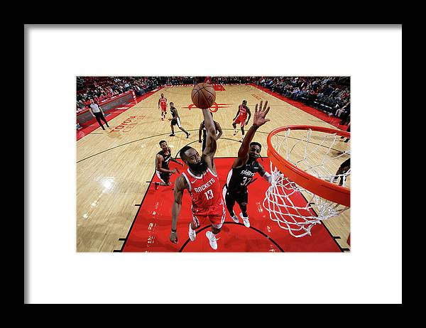 Nba Pro Basketball Framed Print featuring the photograph James Harden by Ned Dishman