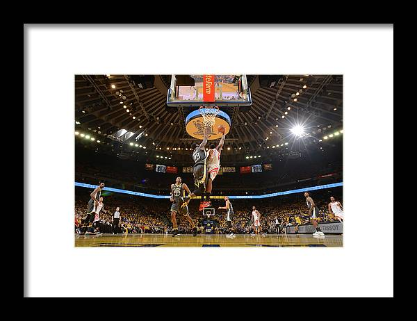 Playoffs Framed Print featuring the photograph James Harden by Noah Graham