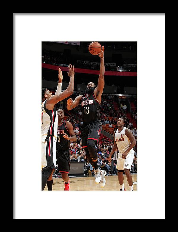 Nba Pro Basketball Framed Print featuring the photograph James Harden by Oscar Baldizon