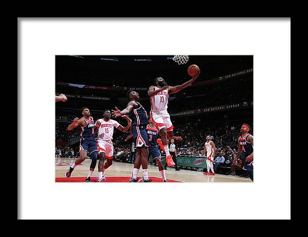 Nba Pro Basketball Framed Print featuring the photograph James Harden by Stephen Gosling