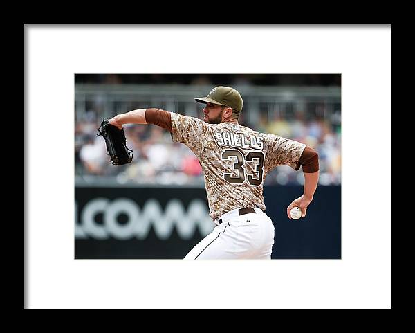 Second Inning Framed Print featuring the photograph James Shields by Denis Poroy