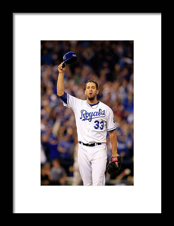 American League Baseball Framed Print featuring the photograph James Shields by Jamie Squire