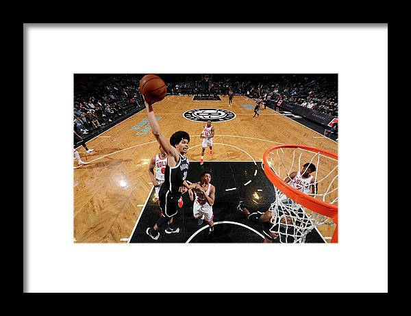 Sports Ball Framed Print featuring the photograph Jarrett Allen by Jesse D. Garrabrant