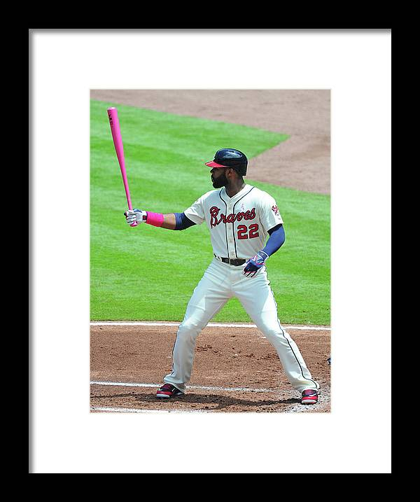 Atlanta Framed Print featuring the photograph Jason Heyward by Scott Cunningham