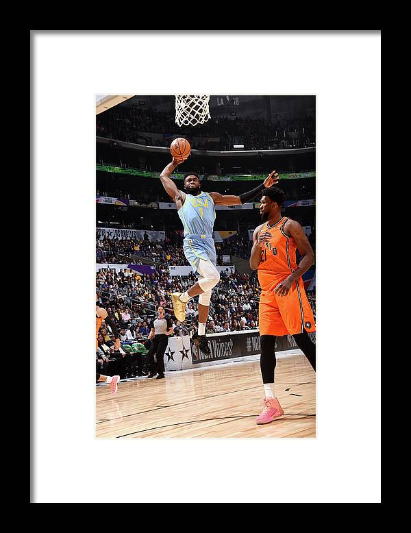 Event Framed Print featuring the photograph Jaylen Brown by Andrew D. Bernstein
