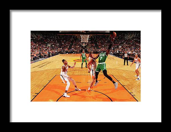 Nba Pro Basketball Framed Print featuring the photograph Jaylen Brown by Barry Gossage