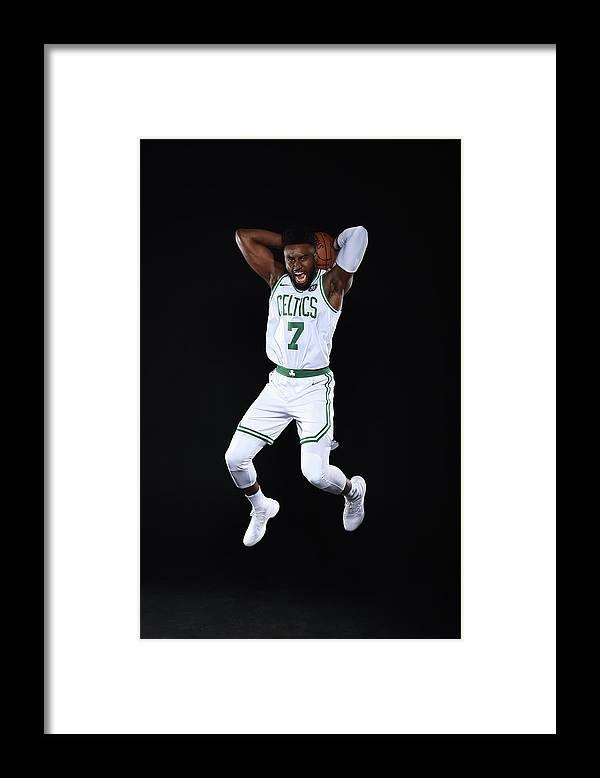 Media Day Framed Print featuring the photograph Jaylen Brown by Brian Babineau