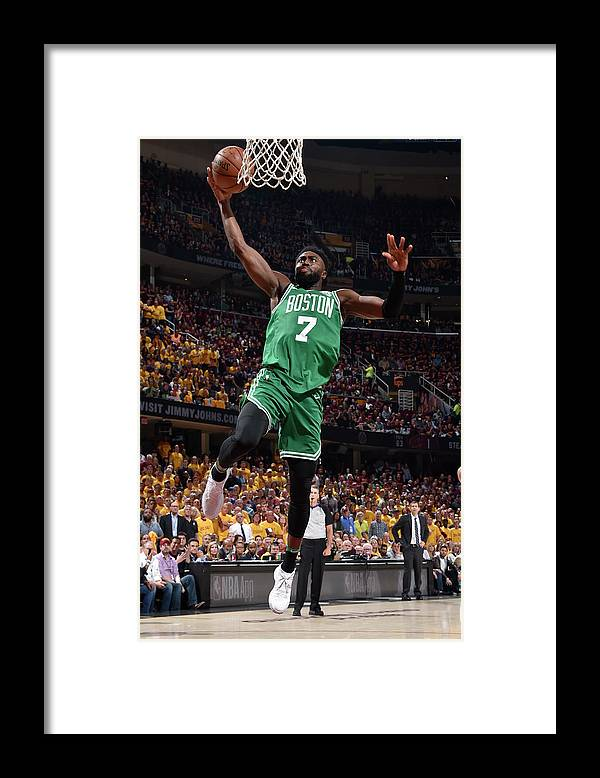 Playoffs Framed Print featuring the photograph Jaylen Brown by David Liam Kyle
