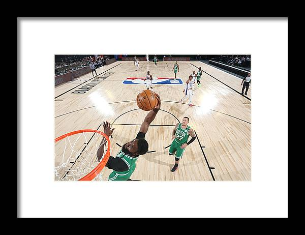 Playoffs Framed Print featuring the photograph Jaylen Brown by David Sherman