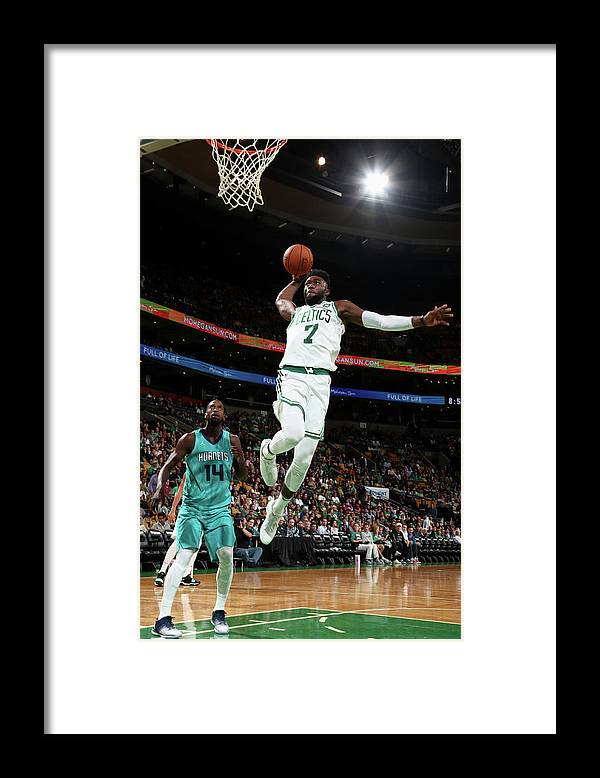 Nba Pro Basketball Framed Print featuring the photograph Jaylen Brown by Nathaniel S. Butler