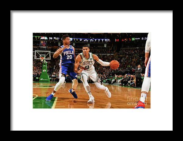 Nba Pro Basketball Framed Print featuring the photograph Jayson Tatum by Jesse D. Garrabrant