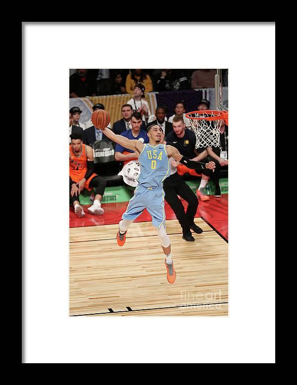 Event Framed Print featuring the photograph Jayson Tatum by Joe Murphy