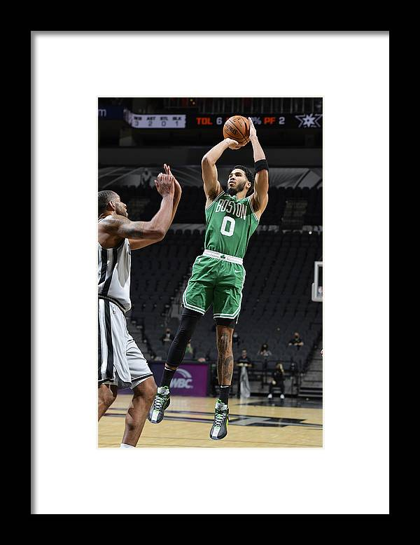 Nba Pro Basketball Framed Print featuring the photograph Jayson Tatum by Logan Riely
