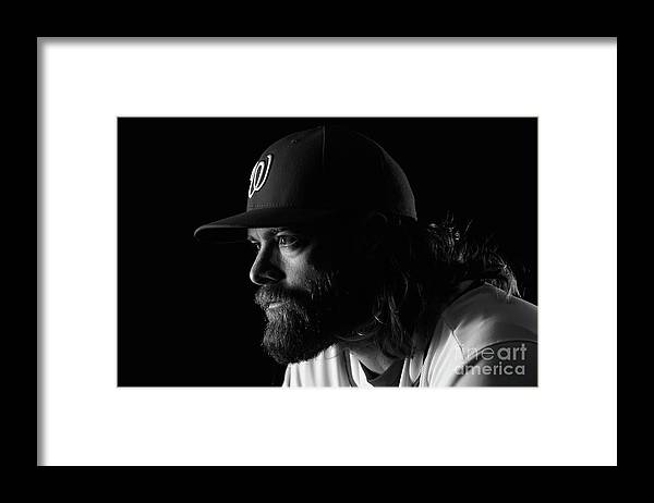 Media Day Framed Print featuring the photograph Jayson Werth by Chris Trotman