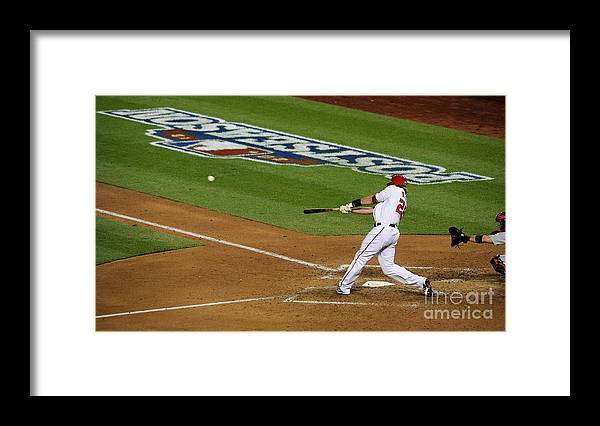 Playoffs Framed Print featuring the photograph Jayson Werth by Patrick Mcdermott