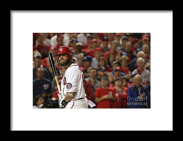 Three Quarter Length Framed Print featuring the photograph Jayson Werth by Patrick Smith
