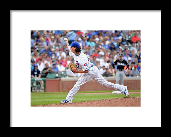 Second Inning Framed Print featuring the photograph Jeff Samardzija by Brian Kersey