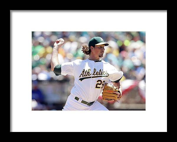 People Framed Print featuring the photograph Jeff Samardzija by Ezra Shaw