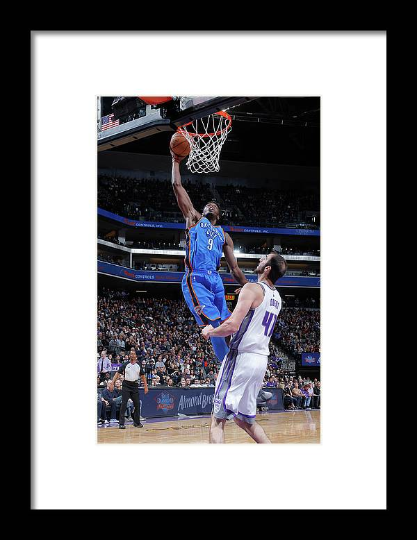 Nba Pro Basketball Framed Print featuring the photograph Jerami Grant by Rocky Widner