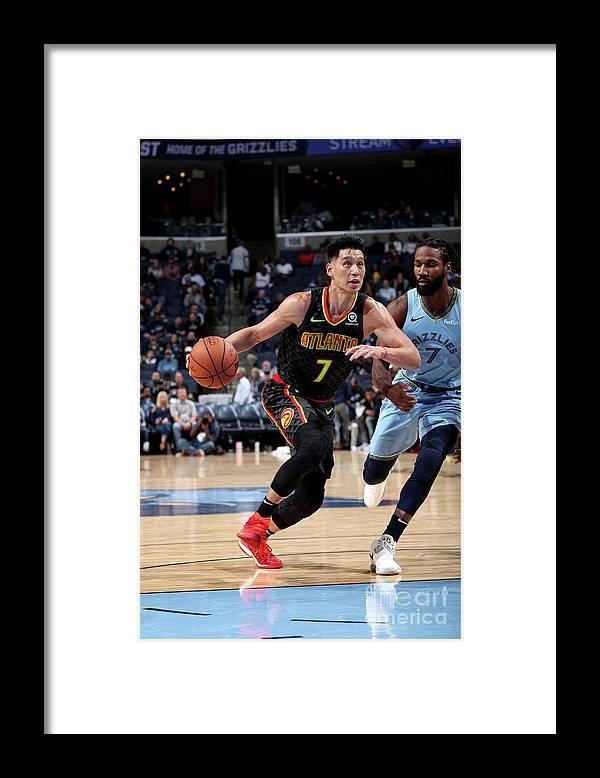 Nba Pro Basketball Framed Print featuring the photograph Jeremy Lin by Joe Murphy