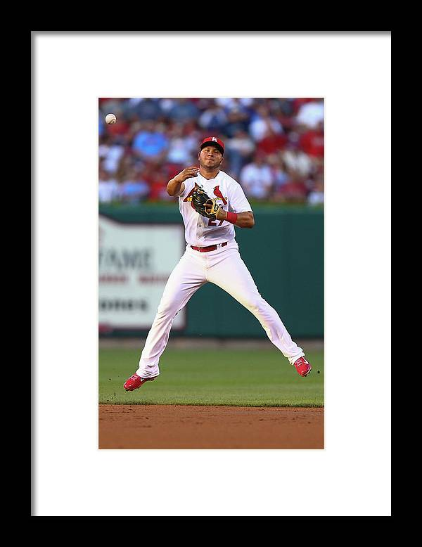 St. Louis Cardinals Framed Print featuring the photograph Jhonny Peralta by Dilip Vishwanat