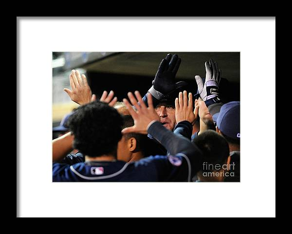 People Framed Print featuring the photograph Jim Thome by Hannah Foslien