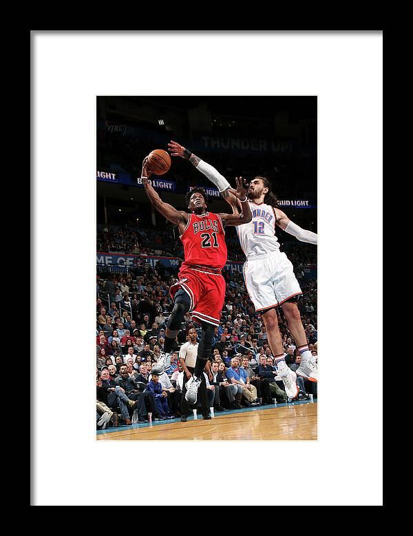 Nba Pro Basketball Framed Print featuring the photograph Jimmy Butler by Layne Murdoch