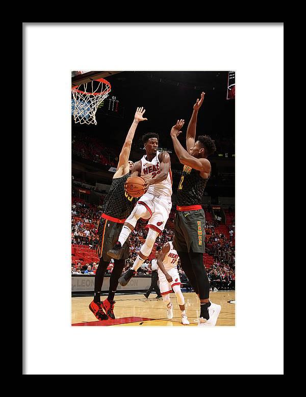 Nba Pro Basketball Framed Print featuring the photograph Jimmy Butler by Oscar Baldizon