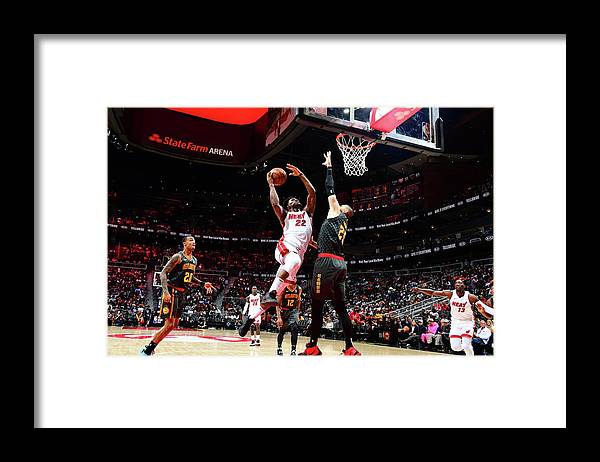 Atlanta Framed Print featuring the photograph Jimmy Butler by Scott Cunningham