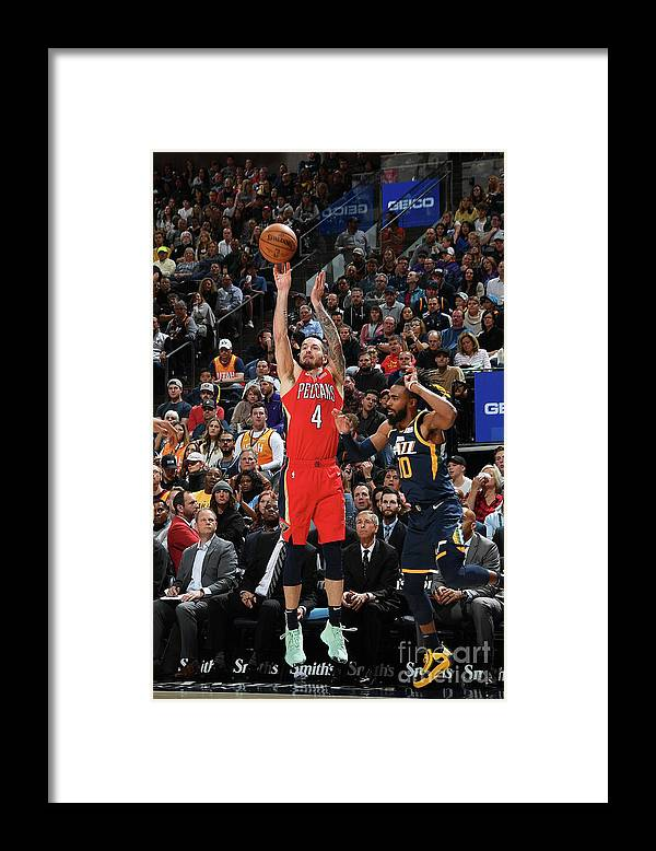 Nba Pro Basketball Framed Print featuring the photograph J.j. Redick by Noah Graham